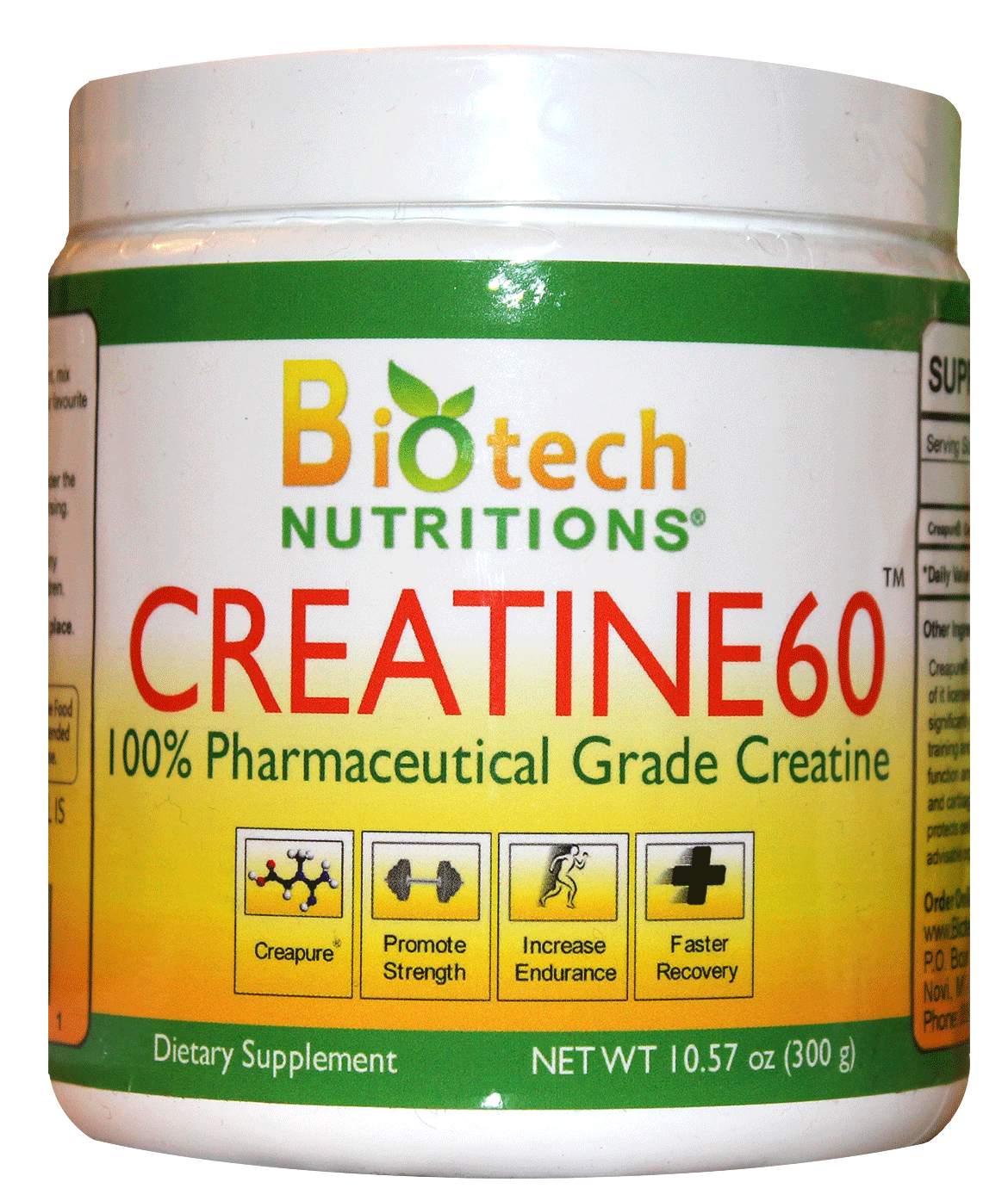 Creatine60 Unflavored 300 g